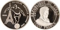 Tschad 1000 Francs Tschad, 1000 Francs, Fußball-WM 1998, 1999, PP