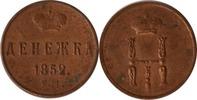 Russland Denga (1/2 Kopeke) Russland, Denga/Deneschka, Nikolaus I., 1852 E.M., vz