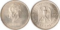 Weimar 3 Reichsmark Weimar, 3 Reichsmark, Goethe, 1932 F, vz+