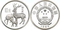 China 10 Yuan China, 10 Yuan, Japanische Fleckenhirsche, 1989, PP