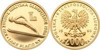 Polen 2000 Zlotych Polen, 2000 Zlotych Gold, Skispringer, 1980, PP