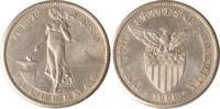 Philippinen 1 Peso Philippinen, 1 Peso, Stehende Filipina mit Amboss, 1908, ss/vz