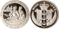 Niue 50 Dollars Niue, 50 Dollars, Zweier-Ruderer, 1989, PP