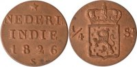 Niederländisch Indien 1/4 Stuivers Niederländisch Indien, 1/4 Stuivers, 1826, st