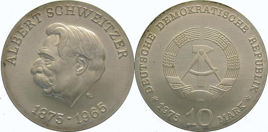 10 Mark 1975 Deutsche Demokratische Republik Stempelglanz