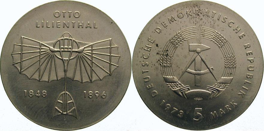 5 Mark 1973 Deutsche Demokratische Republik Stempelglanz