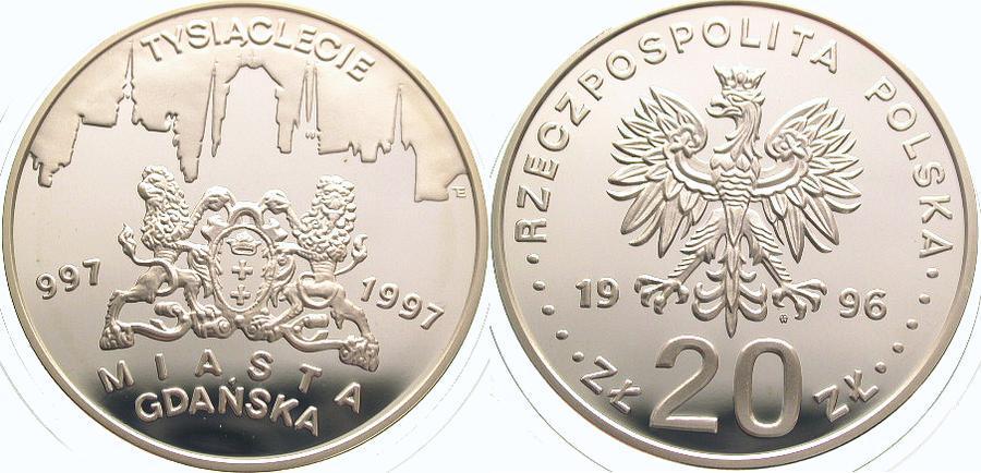 20 Zloty 1996 Polen Republik Polen. Polierte Platte