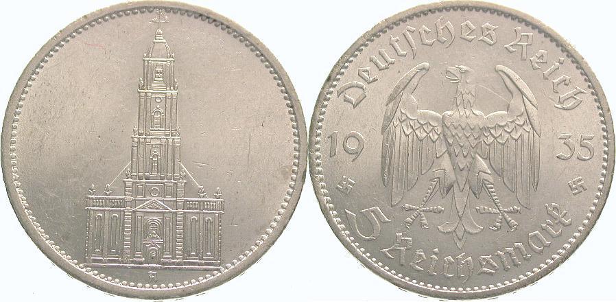 5 Mark 1935 A Drittes Reich Fast Stempelglanz