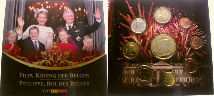3, 88 Euro 2014 Belgien, Königreich Philipp seit 2013. Stempelglanz in Blister
