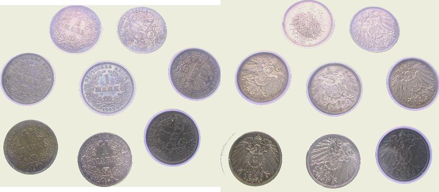 LOT: 1 Mark 1876 D Kleinmünzen Dunkle Patina. Sehr schön und vorzüglich