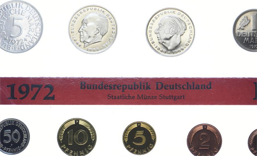 Kursmünzensatz 1972 F Bundesrepublik Deutschland Polierte Platte