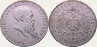 Sachsen-Meiningen 5 Mark Georg II. 1866-1914.