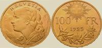 100 Franken Gold 1925  B Schweiz-Eidgenoss...