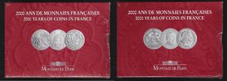 5 FRANCS 2000 FRANCE  COFFRETS I/III,II/III,III/III 2000 ANS de MONNAIES FRANCAISES  BU