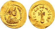 Heraclius 610-641, Gold Semissis (17x19mm, 2,18 g) Constantinopolis / Ex Kress