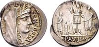 Römische Republik. L. Aemilius Lepidus Paullus, AR Denar (3,88g) Rom 62 v.C.