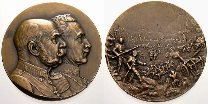 Bronzemedaille 1888-1918 Brandenburg-Preußen Wilhelm II. 1888-1918. Selten. Winz. Randfehler, vorzüglich