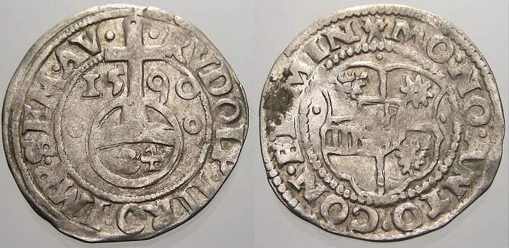 1/24 Taler (Groschen) 1590 Minden, Bistum Anton von Schauenburg 1587-1599. Sehr schön+