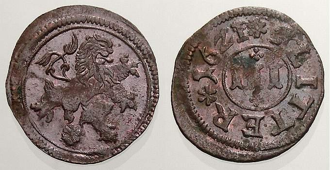 Cu 3 Flitter 1621 Braunschweig-Wolfenbüttel Kippermünzen im Gebiet Friedrich Ulrichs 1617-1622. Vorzüglich