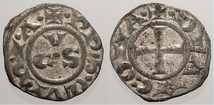 Denaro 1200-1300 Italien-Ancona Republik 1200-1300. Vorzüglich