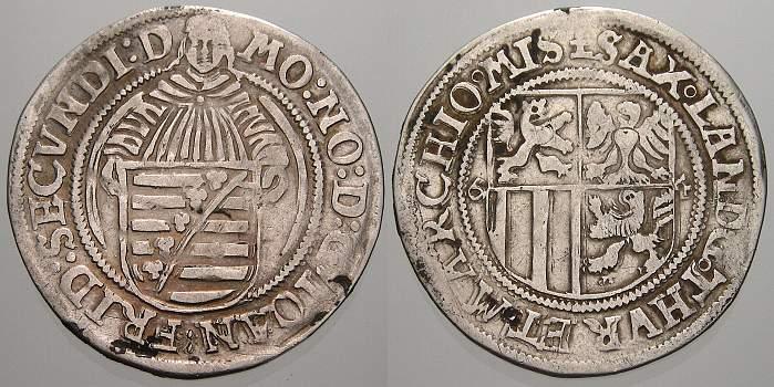 Schreckenberger 1564 Sachsen-Ernestinische Linie Johann Friedrich II. allein 1557-1565. Selten. Sehr schön