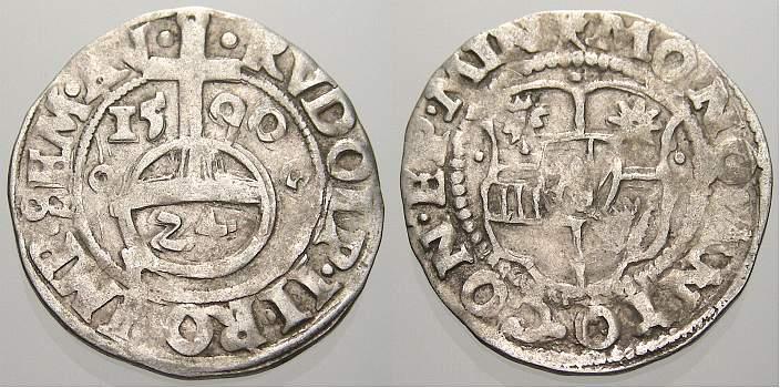 1/24 Taler (Groschen) 1590 Minden, Bistum Anton von Schauenburg 1587-1599. Sehr schön