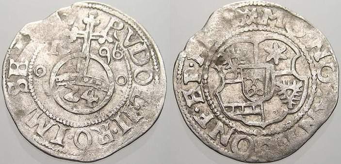 1/24 Taler (Groschen) 1596 MO Minden, Bistum Anton von Schauenburg 1587-1599. Kl. Prägeschwäche, sehr schön