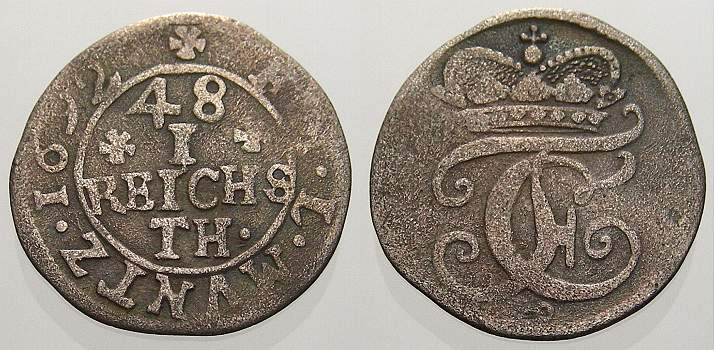 1/48 Taler 1692 Münster, Bistum Friedrich Christian von Plettenberg 1688-1706. Fast sehr schön