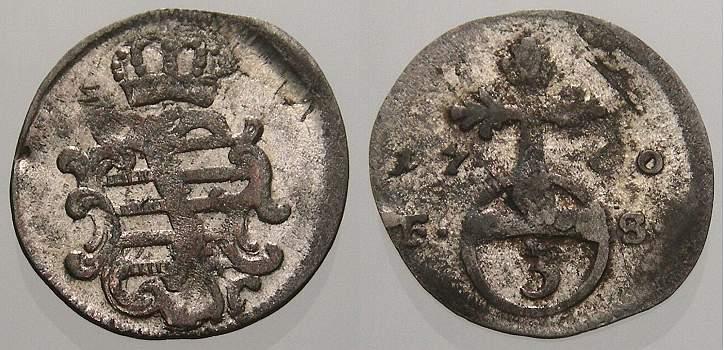 Dreier 1760 FS Sachsen-Weimar-Eisenach Anna Amalia 1758-1775. Sehr schön