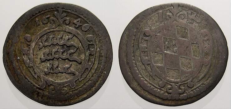 Kreuzer 1646 Württemberg Eberhard III. 1633-1674. Sehr schön