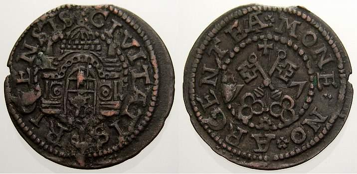 Schilling 1577 Riga, Stadt Freie Stadt 1562-1581. Kl. Zainende, sehr schön+