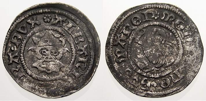 Dreiling 1503-1547 Mecklenburg-Güstrow Albrecht VII., 1503-1547. Sehr schön+