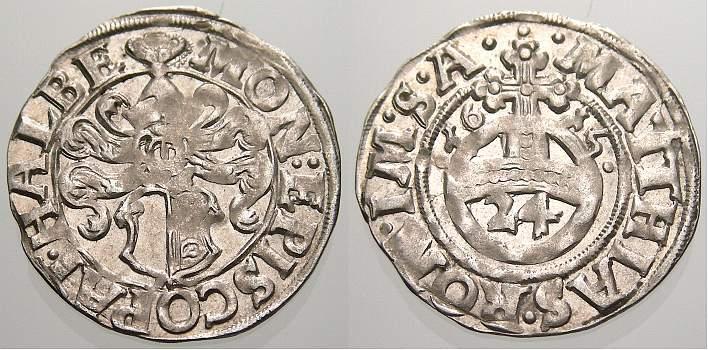 Groschen (1/24 Taler) 1615 Halberstadt, Domkapitel Selten in dieser Erhaltung. Stempelglanz