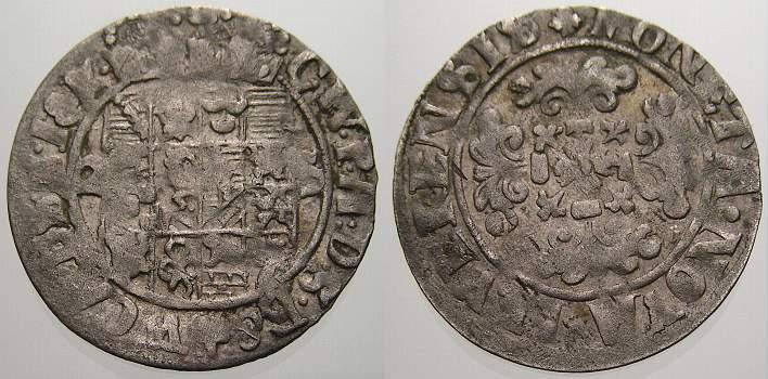 2 Stüber 1667-1718 Jever, Herrschaft Carl Wilhelm von Anhalt-Zerbst 1667-1718. Kl. Prägeschwäche, sehr schön