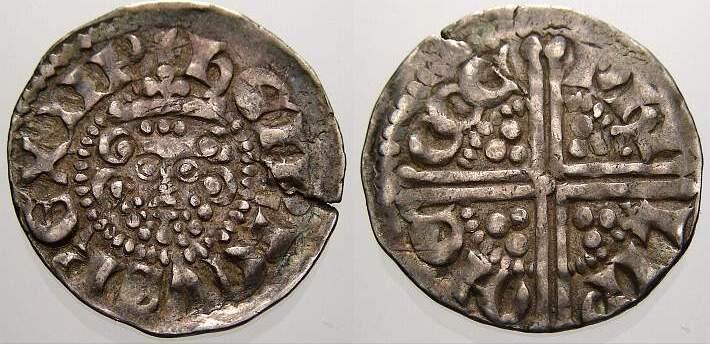Sterling 1216-1272 Großbritannien Henry III. 1216-1272. Min. Schrötlingsriss, sehr schön+ mit schöner Patina