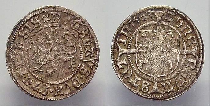 Schilling 1503 Pommern-Stettin Bogislaw X. 1474-1523. Sehr schön