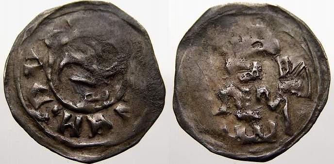 Denar 1264-1278 Pommern Barnim I. 1264-1278. Sehr selten. Kl. Prägeschwäche, sehr schön