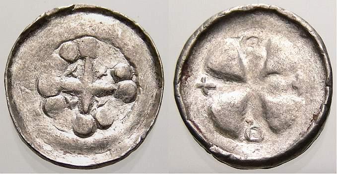 1056-1106 Saalegebiet/Naumburg/Polen Vermutlich Heinrich IV. 1056-1106. Selten. Sehr schön