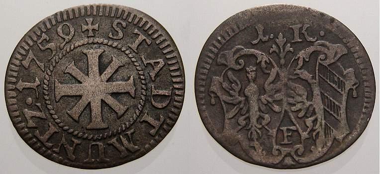1 Kreuzer 1759 Nürnberg, Stadt Sehr schön