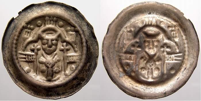 Brakteat 1247-1257 Hildesheim, Bistum Heinrich I. 1247-1257. Fast vorzüglich