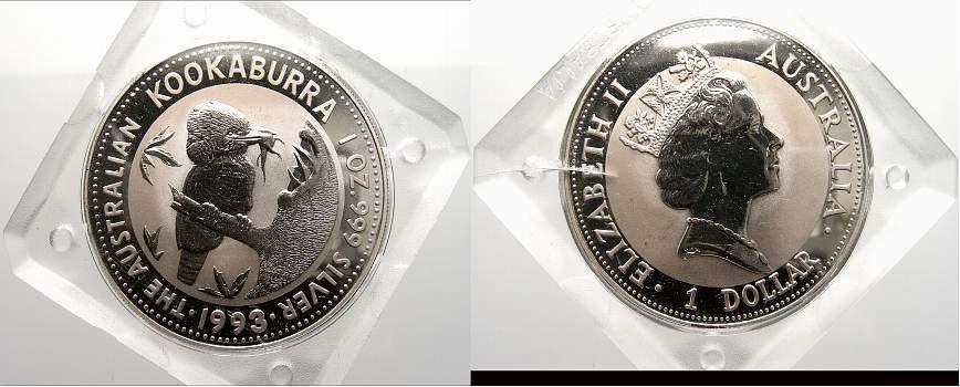 1 Dollar (Kookaburra) 1993 Australien Elizabeth II. seit 1952. Stempelglanz