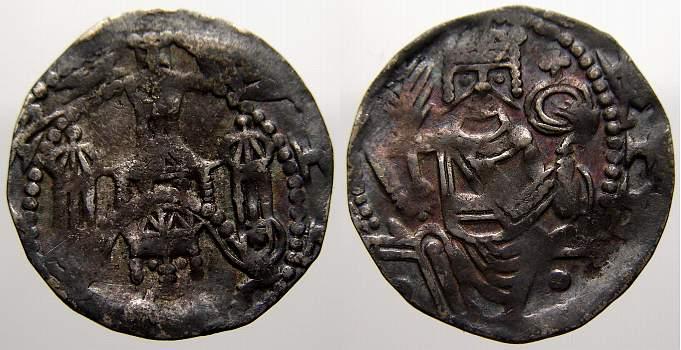 Pfennig 1247-1256 Aachen Wilhelm von Holland 1247-1256. Sehr selten. Sehr schön