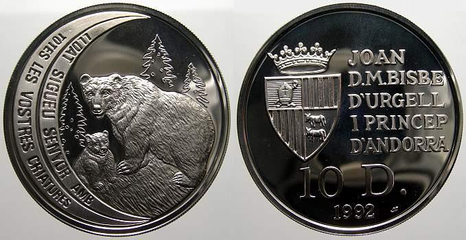10 Diners 1992 Andorra Joan Martí i Alanís 1971-2003. Polierte Platte