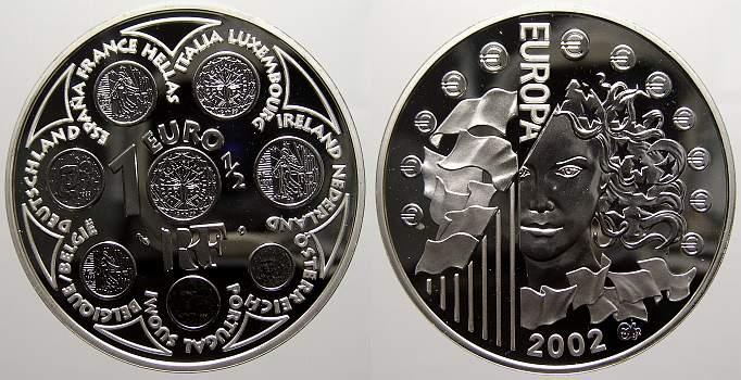 1 1/2 Euro 2002 Frankreich Polierte Platte