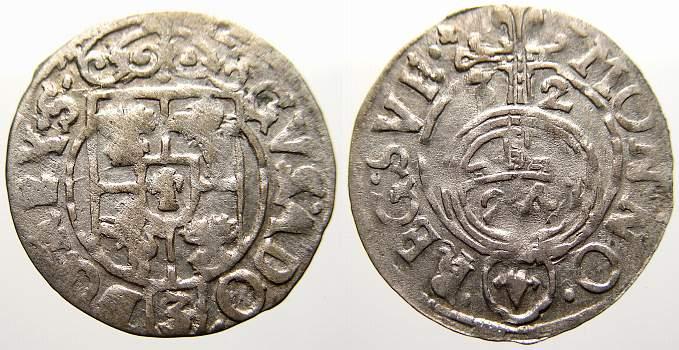 Dreipölker 1 1632 Elbing Gustav II. Adolf 1626-1632, Elbing unter schwedischer Okkupation. Sehr schön