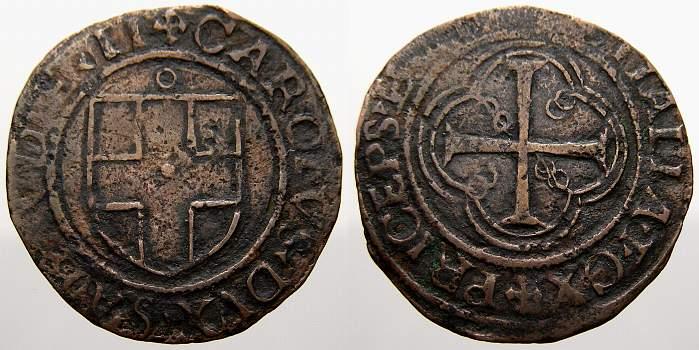 1504-1553 Italien-Savoia Carlo II 1504-1553. Sehr schön