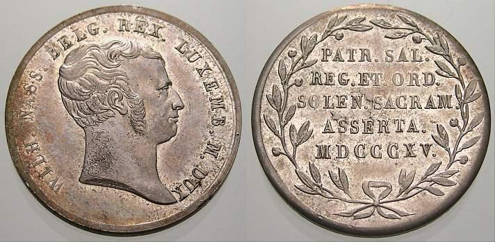 Silbermedaille 1815 Niederlande Vorzüglich