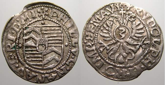 3 Kreuzer (Groschen) 1580-1612 Hanau-Münzenberg Philipp Ludwig II. 1580-1612. Kl. Zainende. Sehr schön+