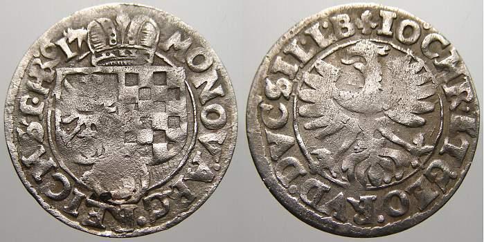 3 Kreuzer 1617 Schlesien-Liegnitz-Brieg Johann Christian und Georg Rudolf 1602-1621. Sehr schön