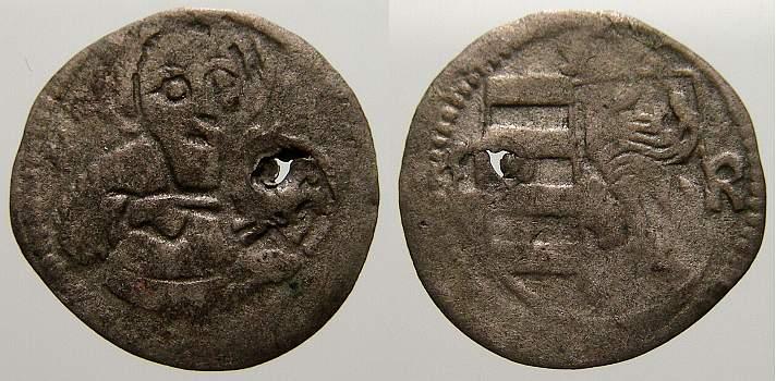 Heller 1469-1479 Schlesien-Breslau, Fürstentum Matthias Corvinus, König von Ungarn 1469-1479. Sehr selten. Winz. durchgehender Schrötlingsfehler. Sehr schön